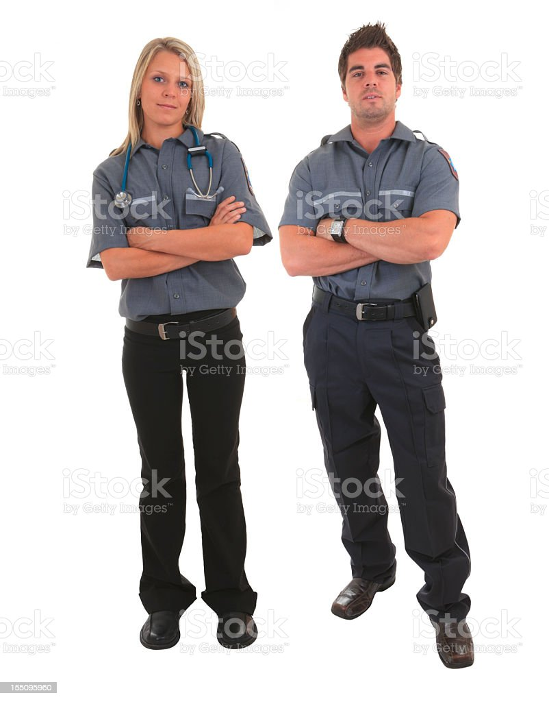 Paramedic Arm Crossed royalty-free stock photo