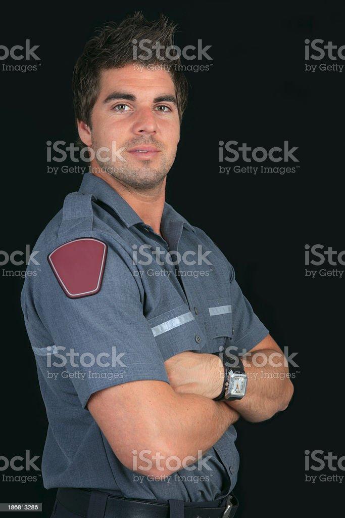 Paramedic Black Background royalty-free stock photo