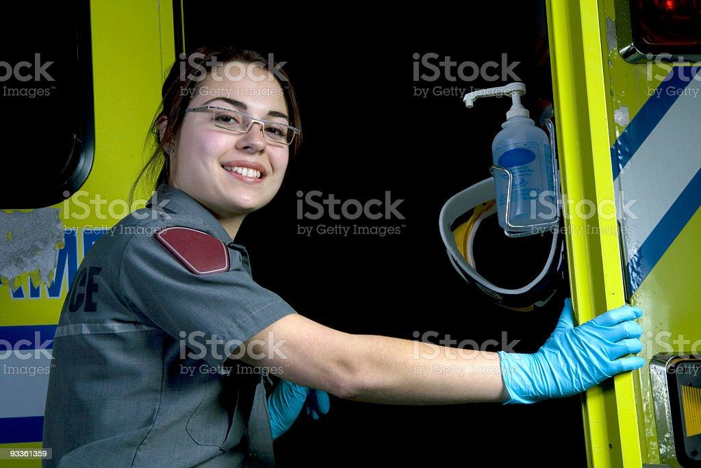 Paramedic door royalty-free stock photo