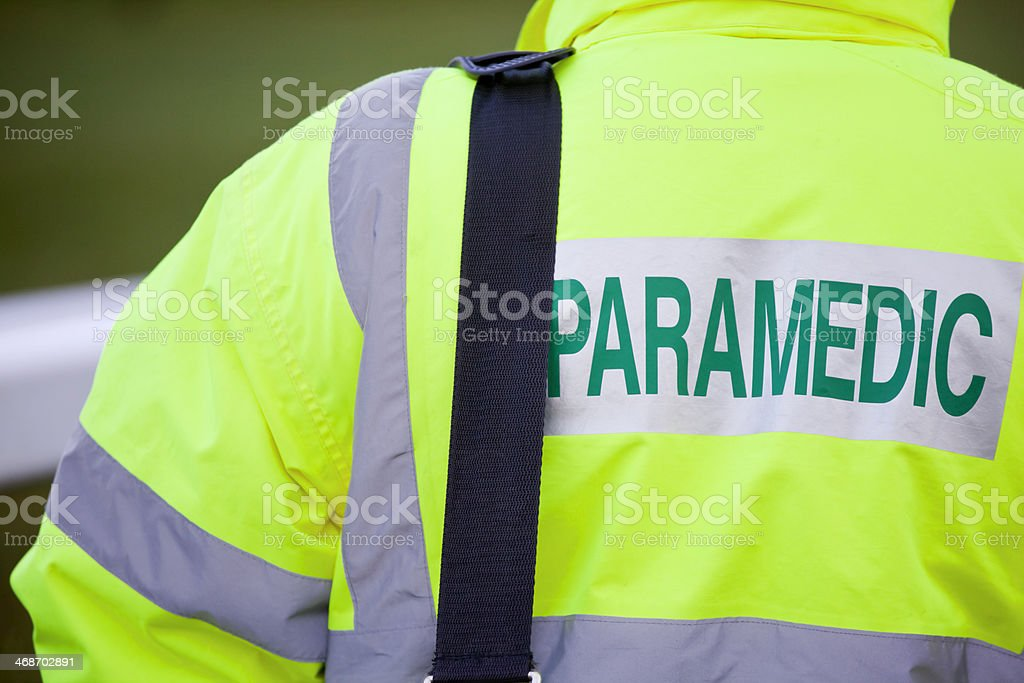 Paramedic in Attendance stock photo