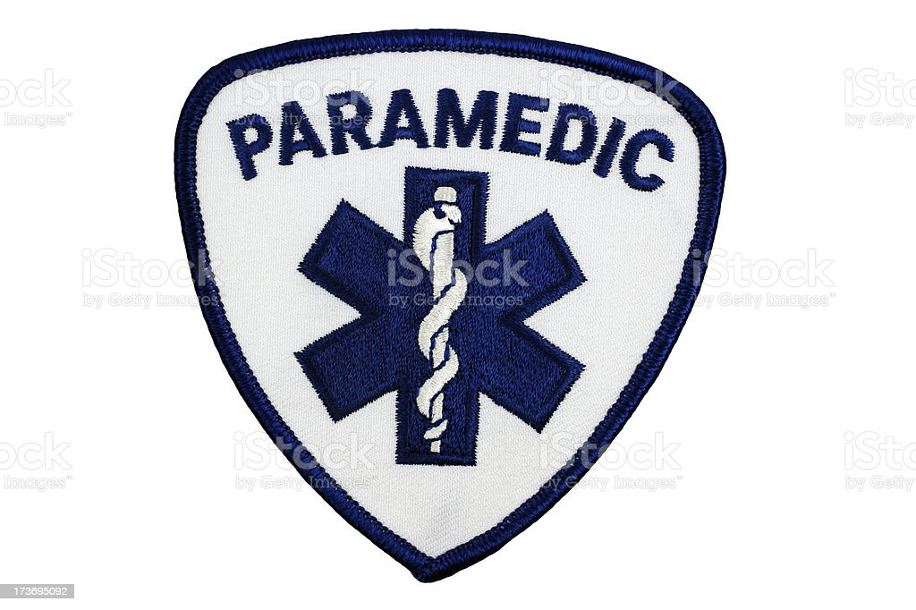 Paramedic Patch Insignia stock photo