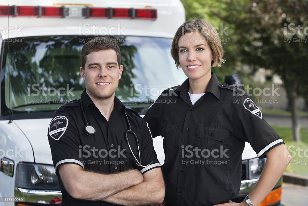 Paramedic Team royalty-free stock photo
