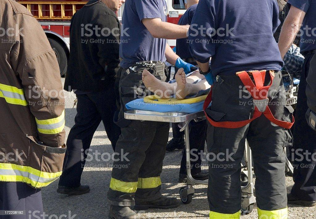 Paramedics at an Accident Scene royalty-free stock photo