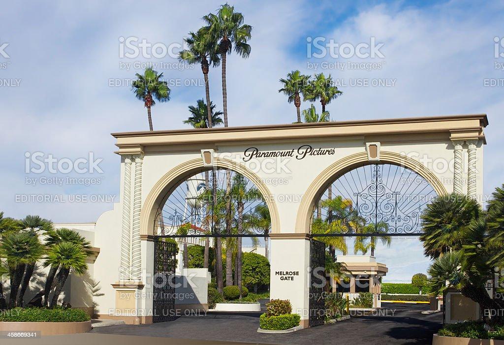 Paramount Studios Main Gate stock photo