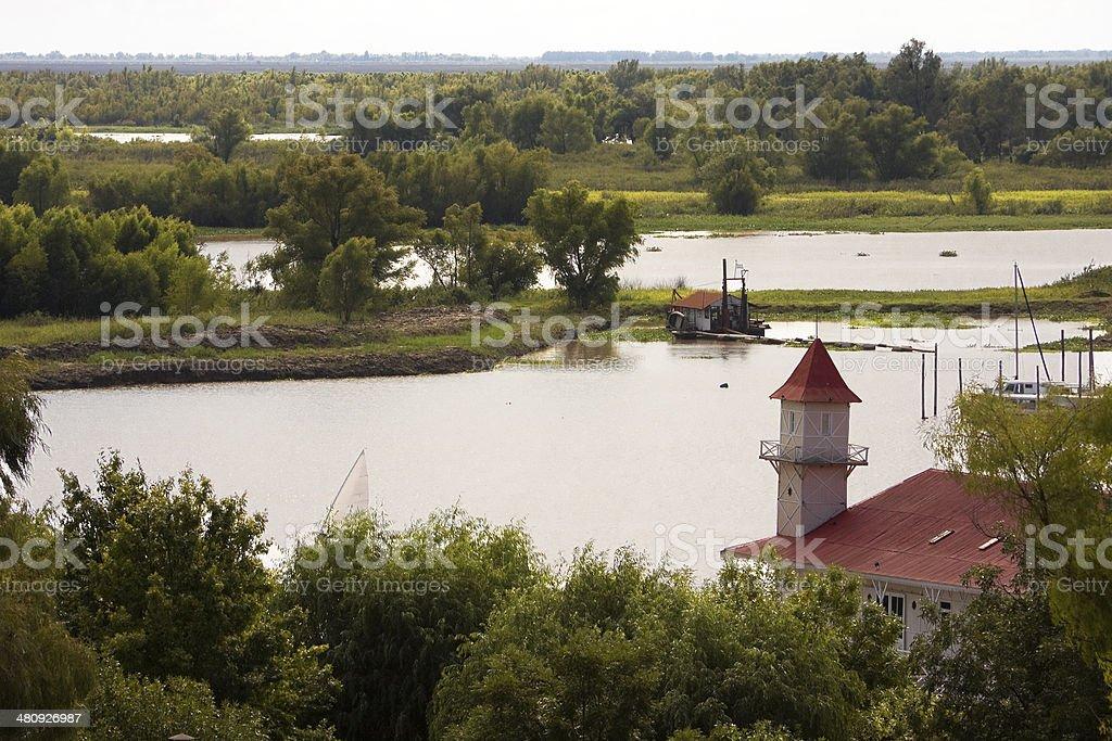 Paran? River in San Pedro Village stock photo