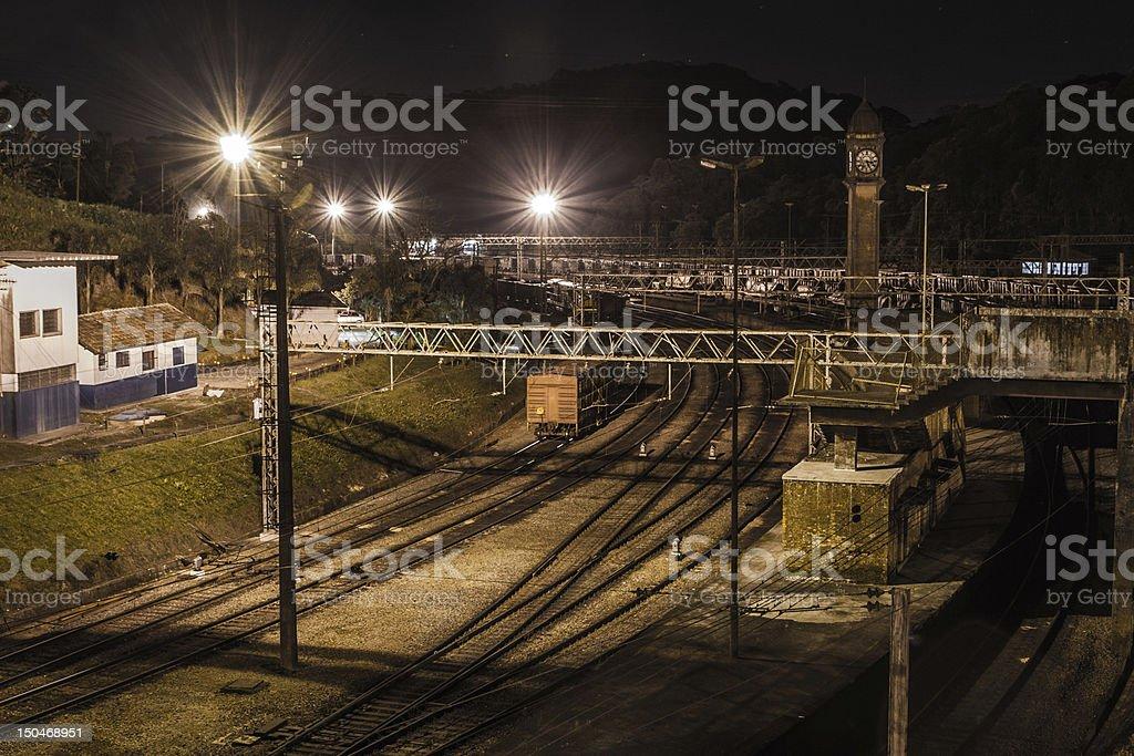 Paranapiacaba Railway Station Clock royalty-free stock photo
