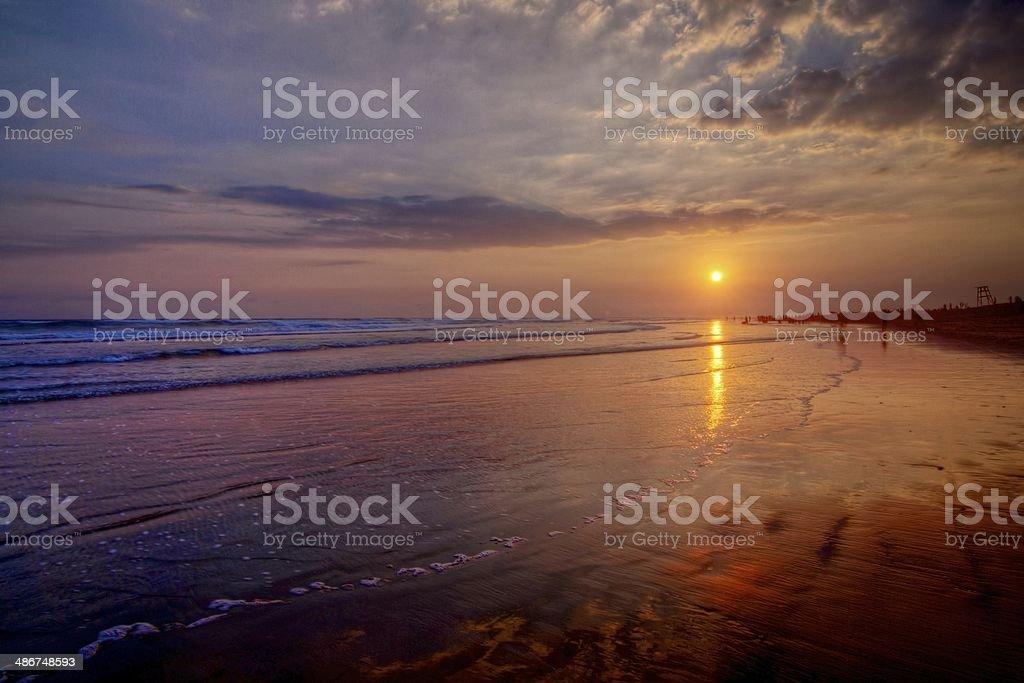 Parangtritis Beach at Sunset stock photo