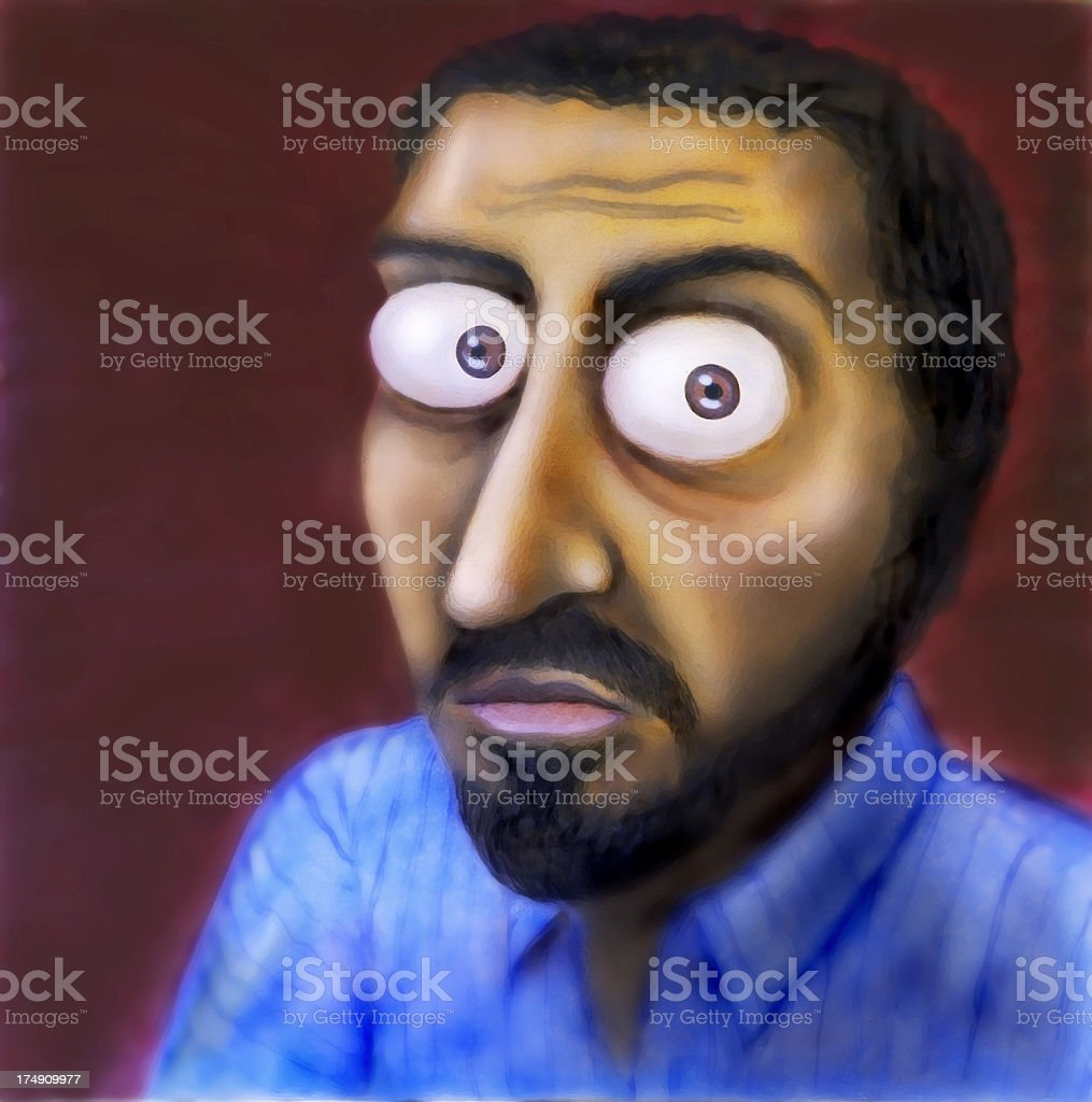 Paranoid Man royalty-free stock photo