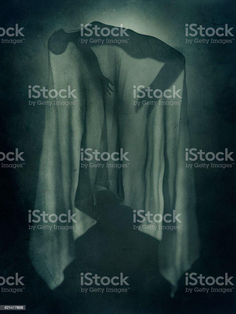 Paranormal levitation stock photo