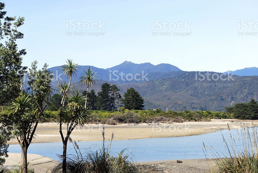 Parapara Inlet, Milnthorpe, Golden Bay, New Zealand royalty-free stock photo