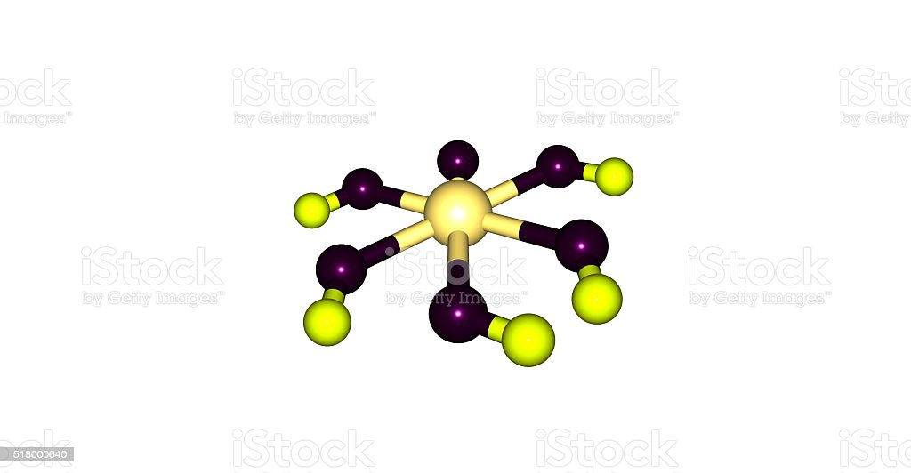 Paraperiodic acid molecular structure isolated on white stock photo
