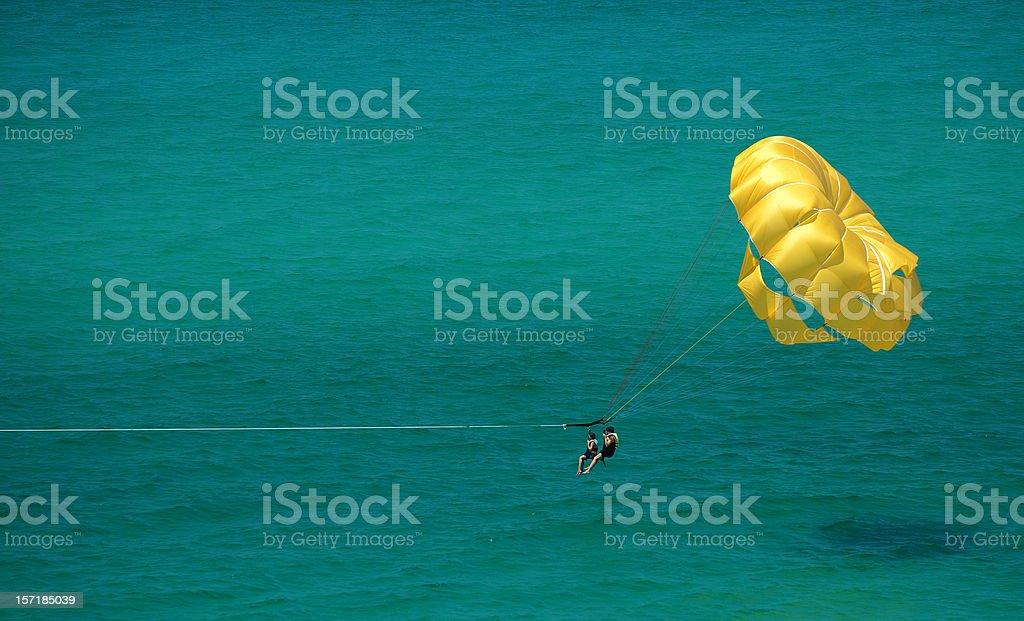 Parasailing in Paradise stock photo