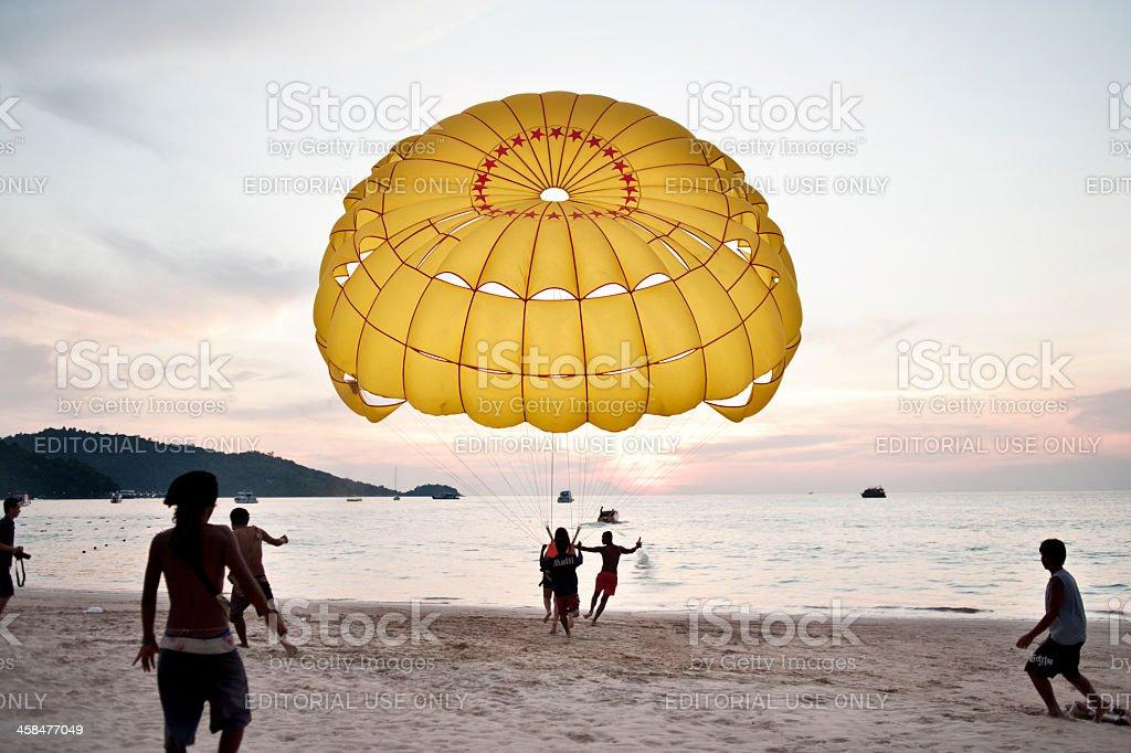 Parasailing in Phuket stock photo