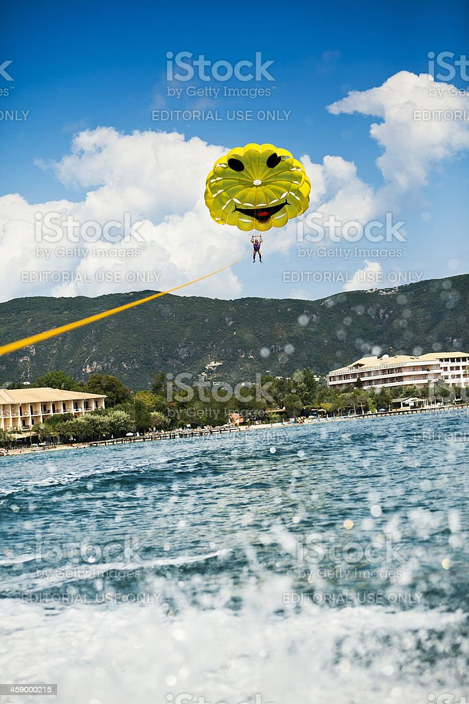 Parasailing in Summer Time royalty-free stock photo