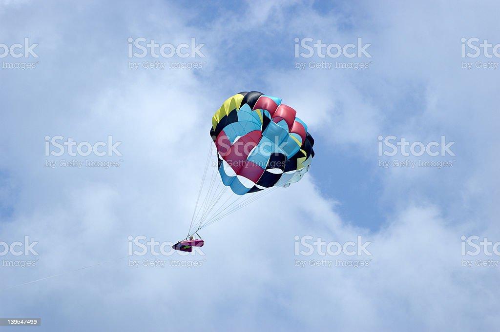 Parasailing over Cancun IV stock photo