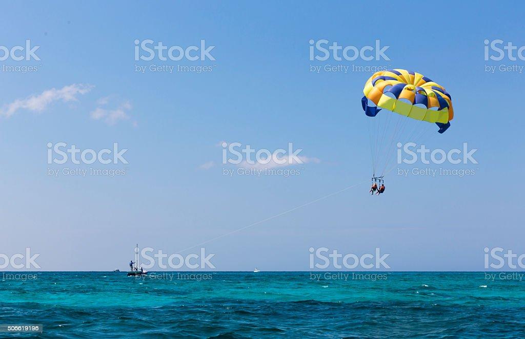 Parasailing, Parachute, Water Sport stock photo