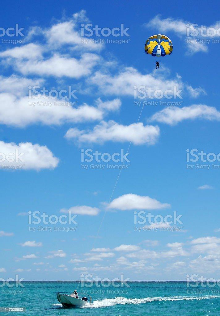 Parasailing stock photo