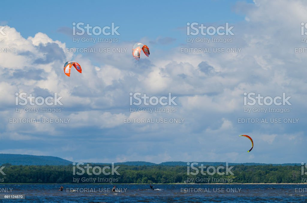 Parasailing stock photo