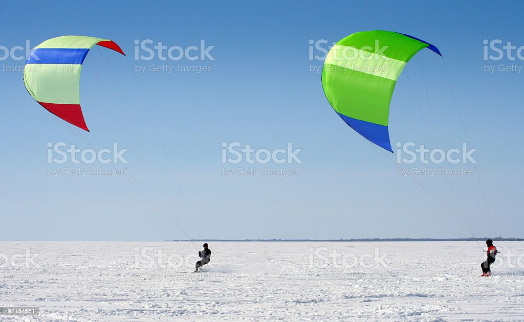 Para-ski royalty-free stock photo