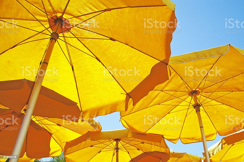 parasols royalty-free stock photo