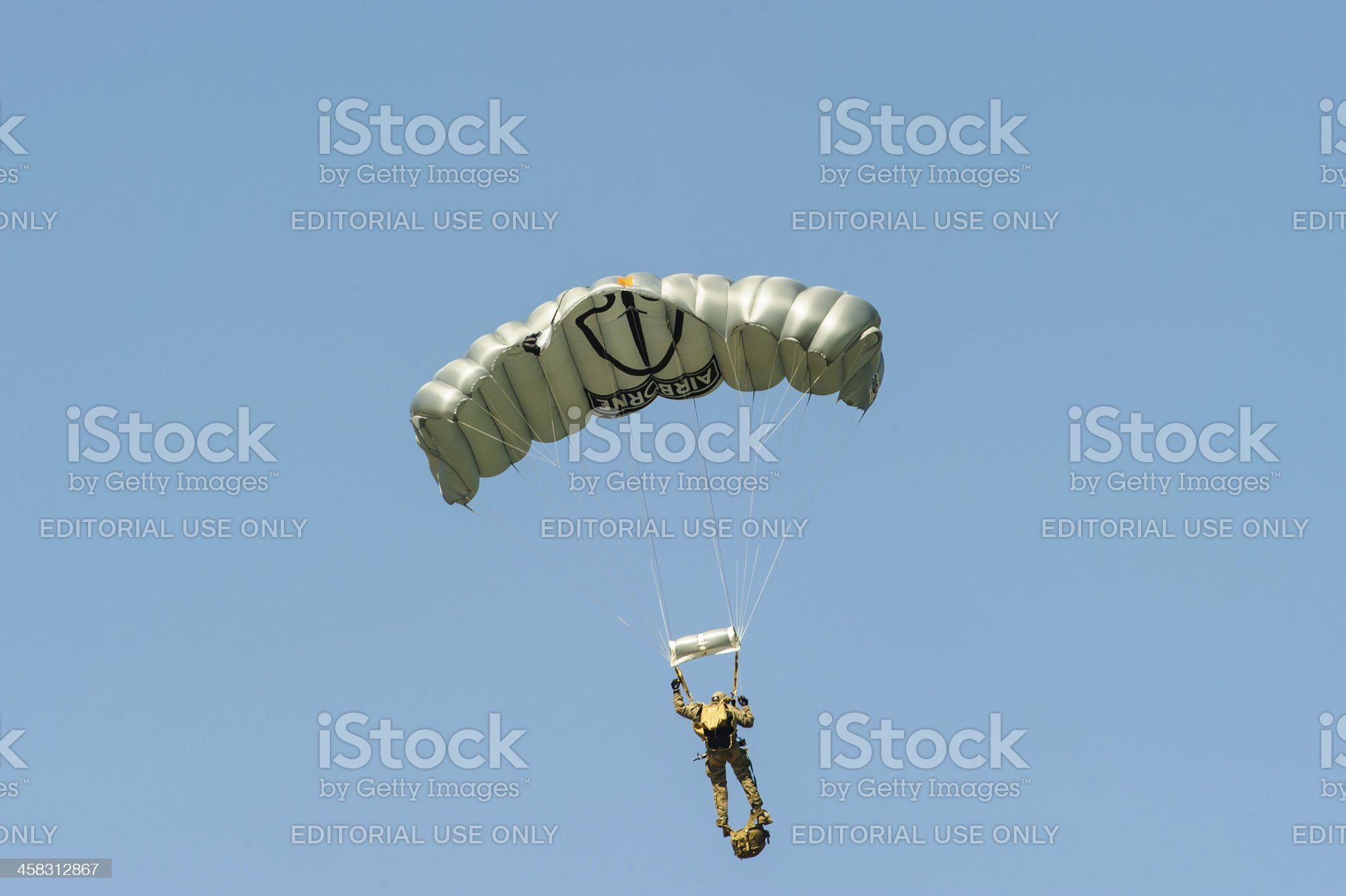 Paratrooper from 82nd Airborne royalty-free stock photo