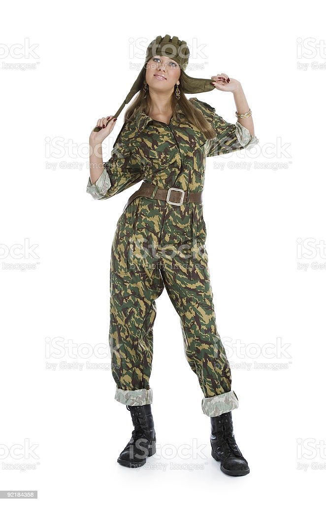 paratrooper girl royalty-free stock photo