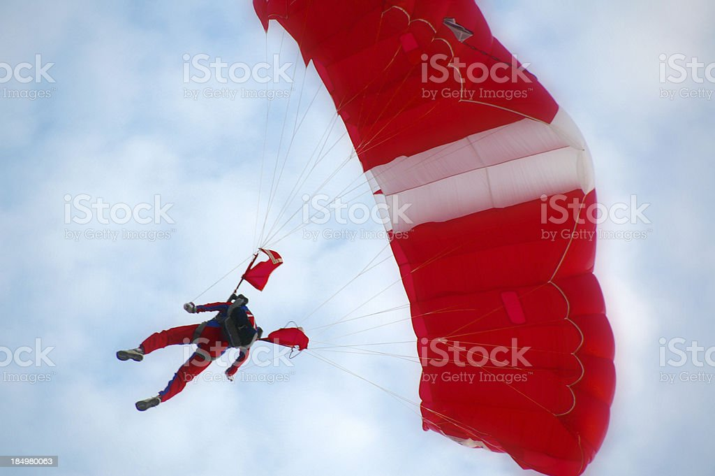 Paratroopers Descent Diagonally Oriented royalty-free stock photo