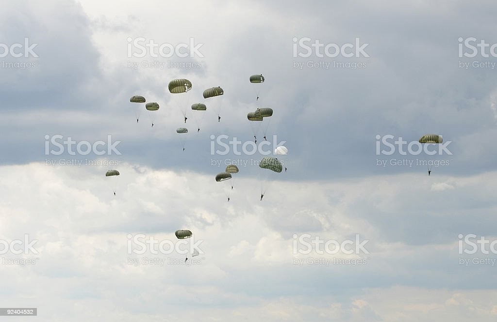 Paratroopers stock photo
