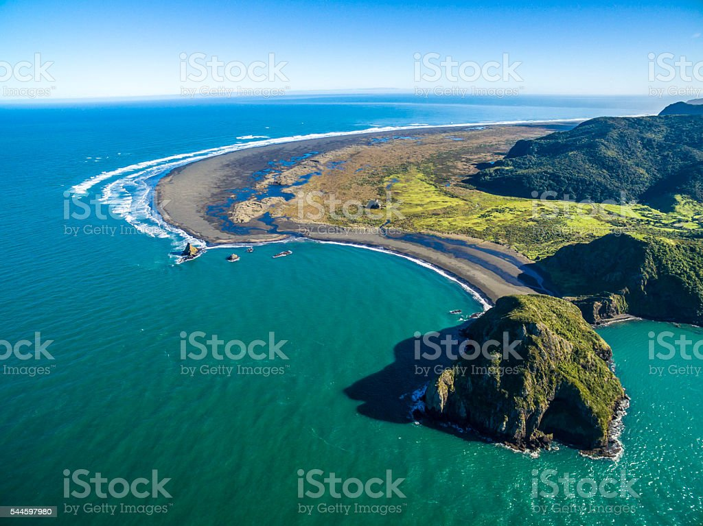 Paratutae Beach stock photo