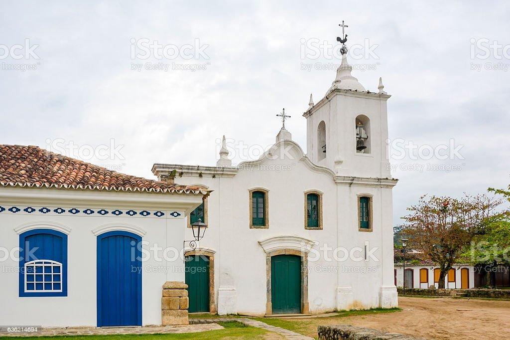 Paraty church stock photo