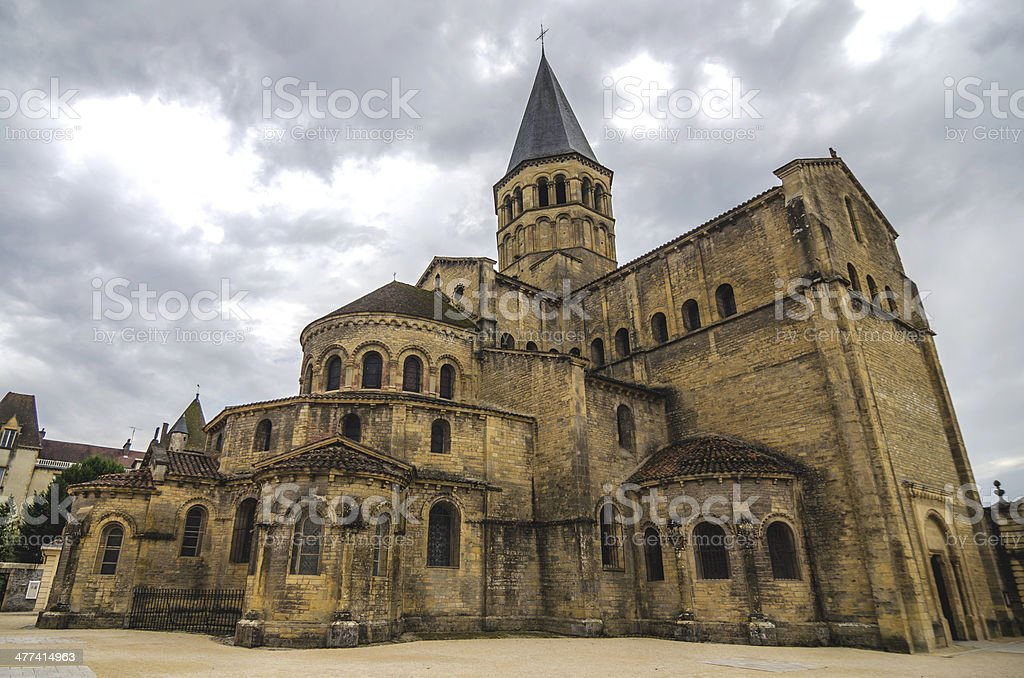 Paray Le Monial church stock photo