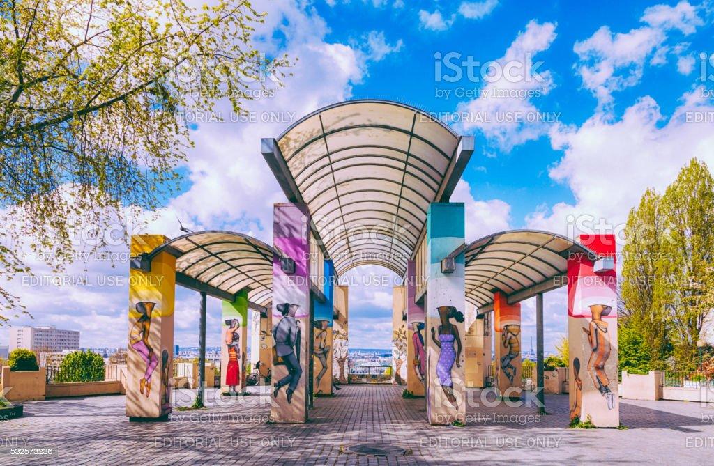 Parc de Belleville stock photo