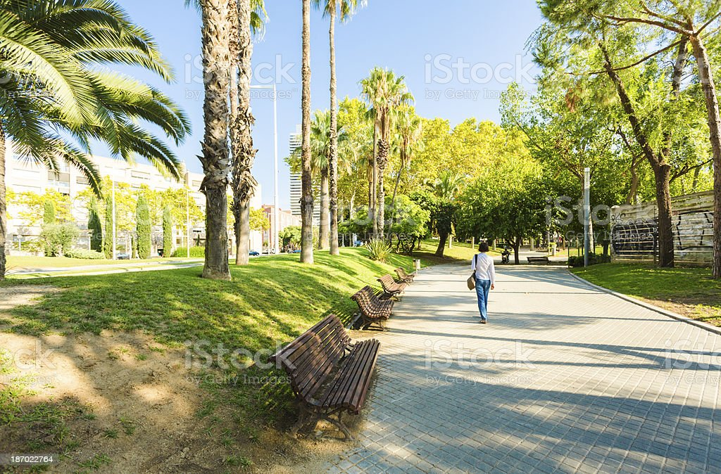 Parc de la Barceloneta stock photo