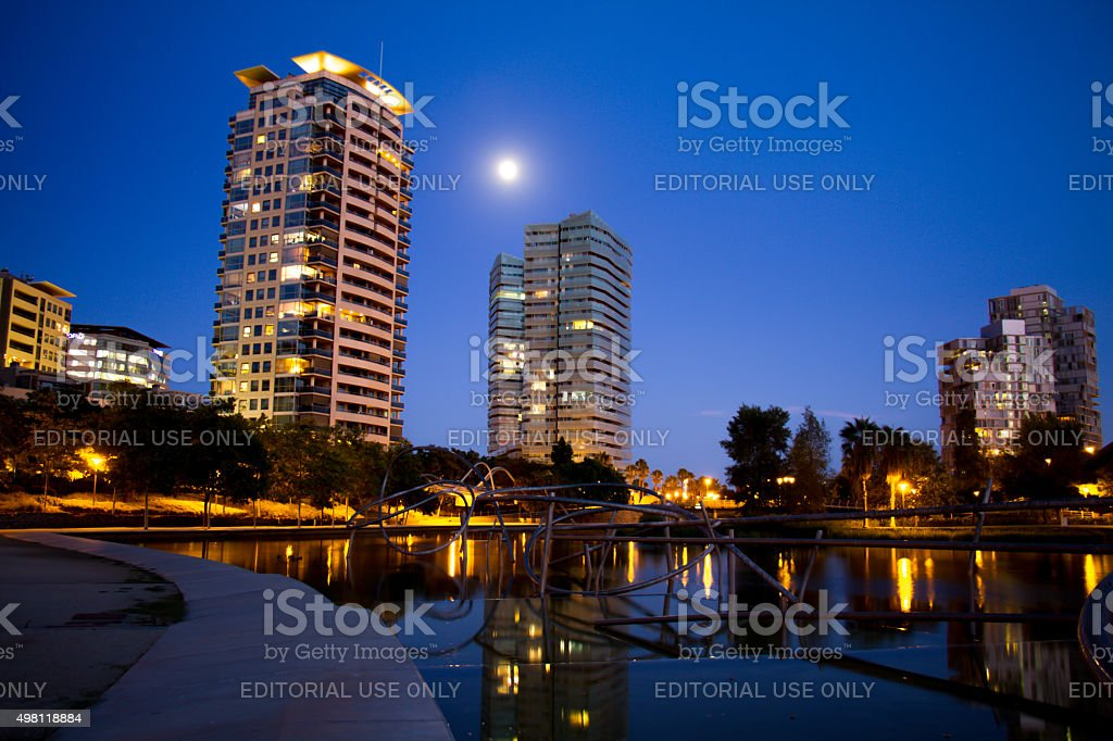 Parc Diagonal Mar of Barcelona (New Forum of Barcelona) stock photo