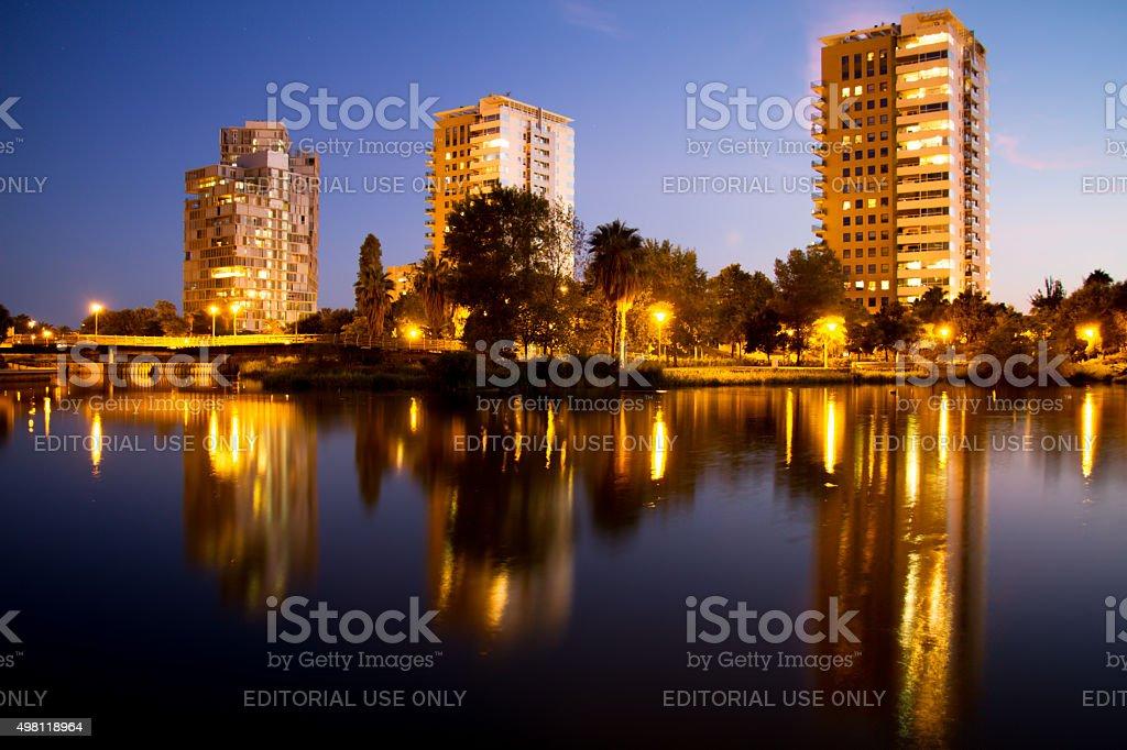 Parc Diagonal Mar of Barcelona stock photo