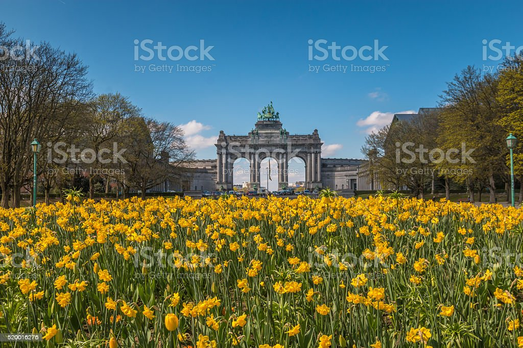 Parc du Cinquantenaire in Brussels Belgium stock photo