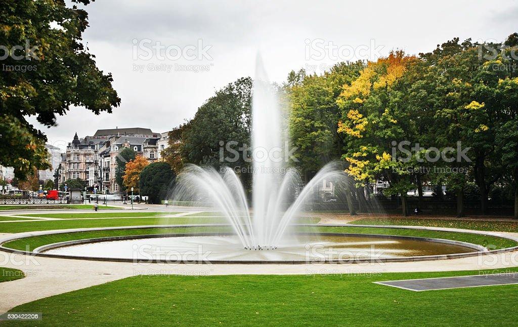 Parc du Cinquantenaire – Jubelpark. Brussels. Belgium stock photo