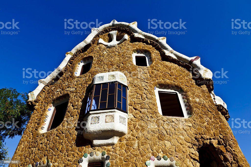 Parc Guell Barcelona Catalonia Spain stock photo
