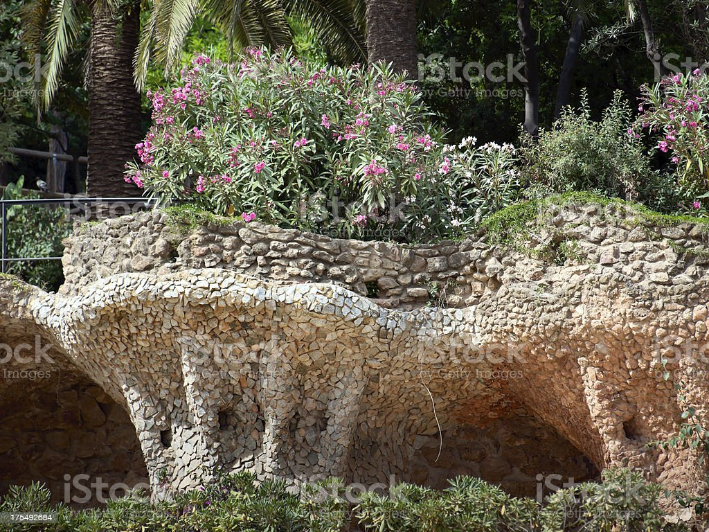 Parc Guell. Barcelona. Spain. stock photo