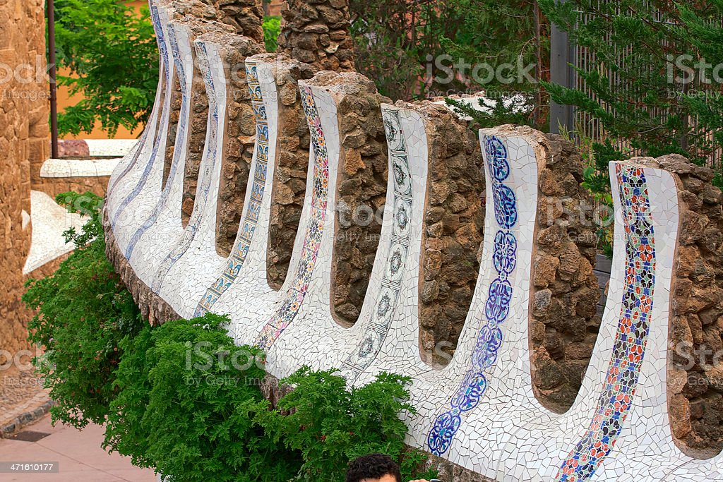 Parc Guell. Barcelona. Spain. royalty-free stock photo