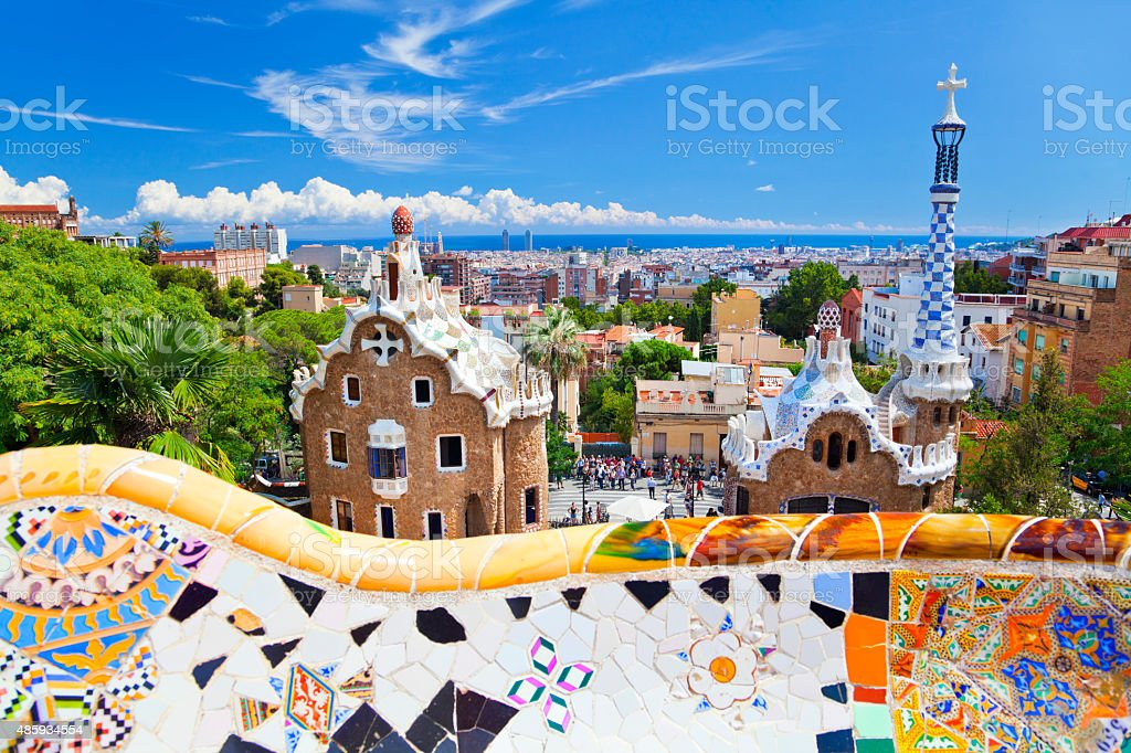 Parc Guell, Barcelona, Spain stock photo