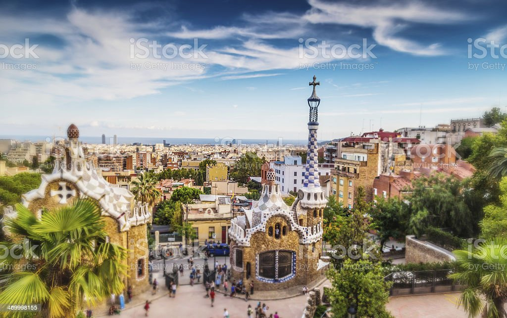 Parc Guell in Barcelona stock photo