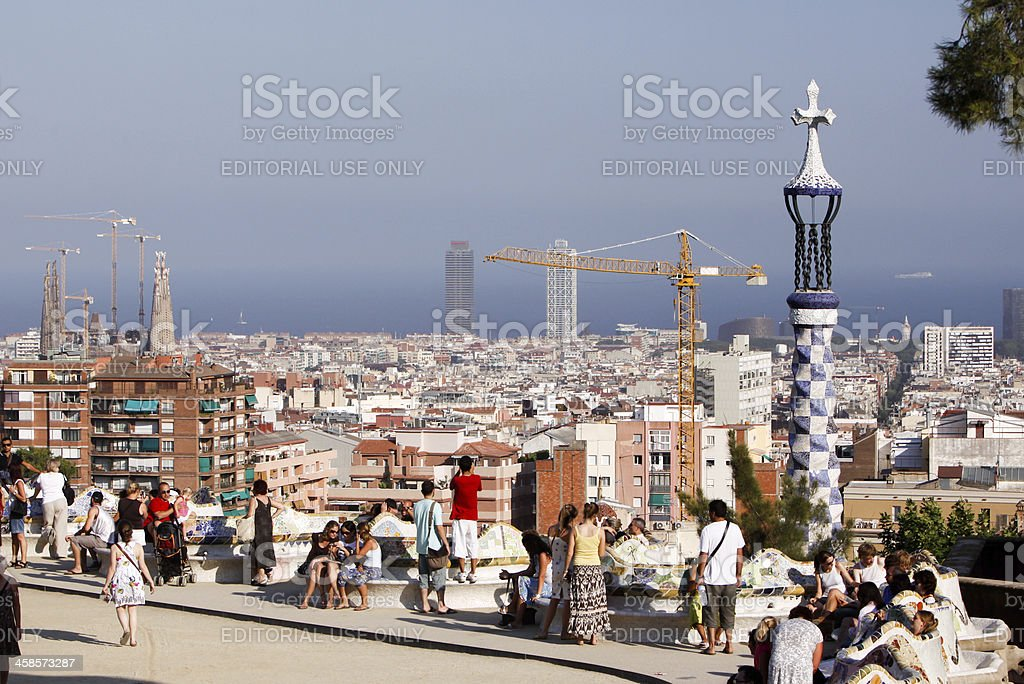 Parc Guell in Barcelona, Spain royalty-free stock photo