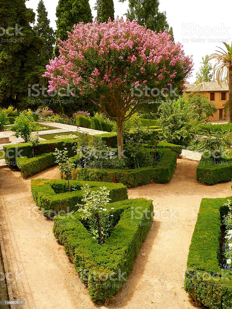 Parc in Alhambra stock photo