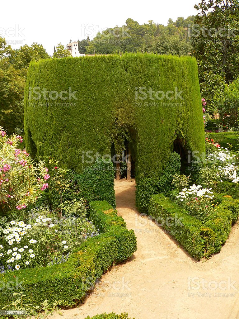 Parc of Alhambra stock photo