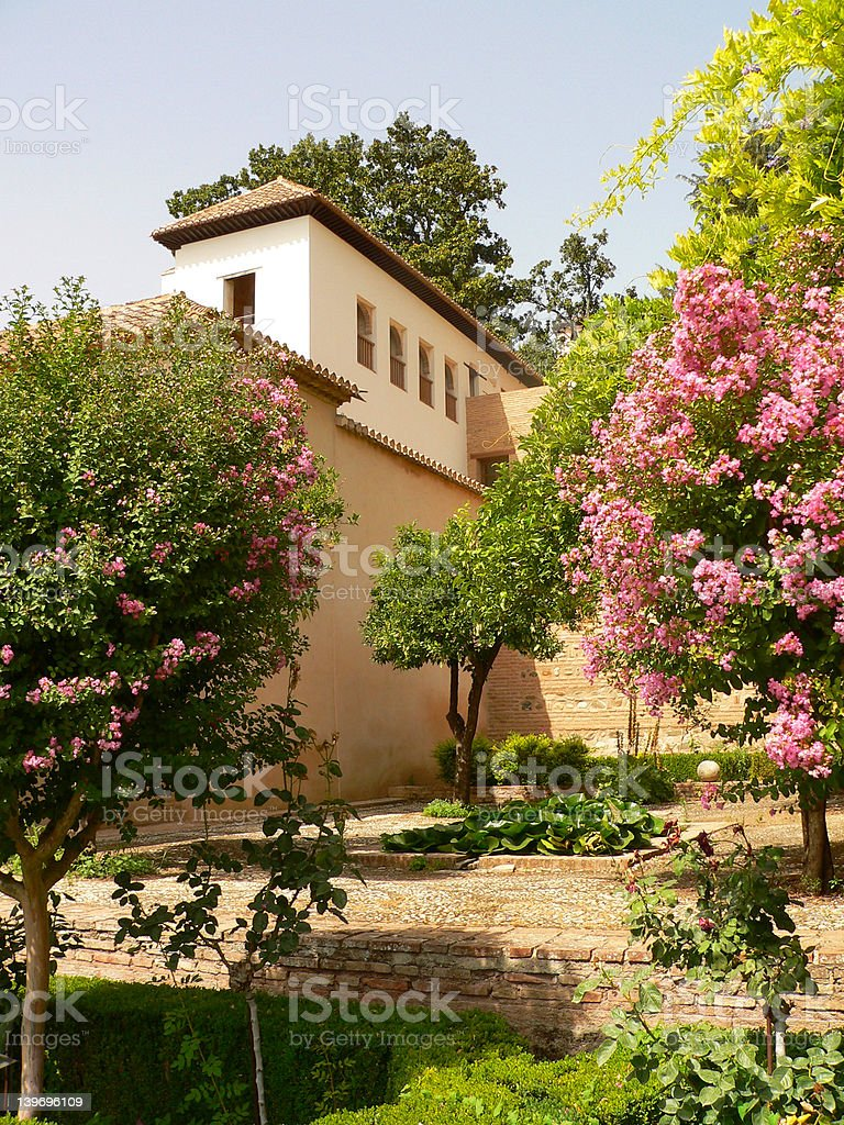 Parc of Alhambra royalty-free stock photo