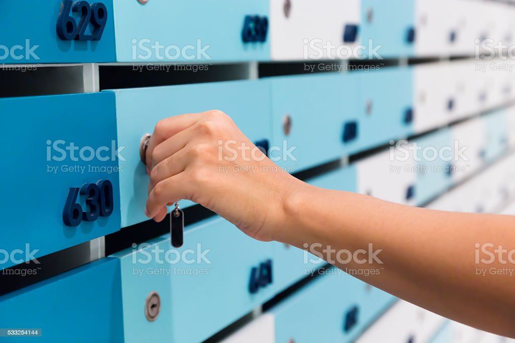 Parcel delivery mailings stock photo