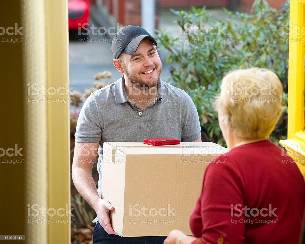 parcel for gran royalty-free stock photo