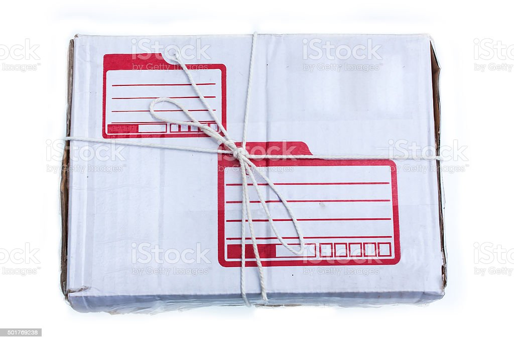 parcel on isolate background stock photo