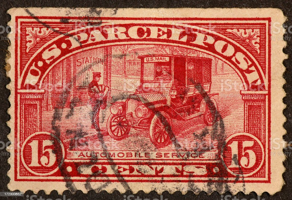 Parcel Post stamp royalty-free stock photo